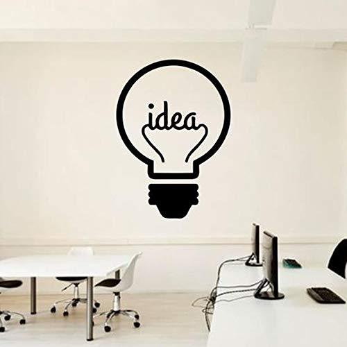 WERWN Idée Ampoule Sticker Mural Bureau équipe Entreprise travailleur Inspiration Design d'intérieur Bureau décoration Vinyle Mur Autocollant Mural