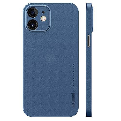 iPhone 12 mini用ケース 0.3㎜超薄型 memumi® 全面保護カバー 指紋防止 傷付き防止 5.4インチ 人気ケース·カバー (メタリックブルー)