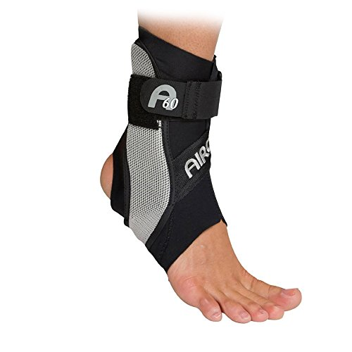 Aircast A60 Ankle Support Brace, Left Foot, Black, Medium (Shoe Size: Men's 7.5 - 11.5 / Women's 9 - 13) by Aircast