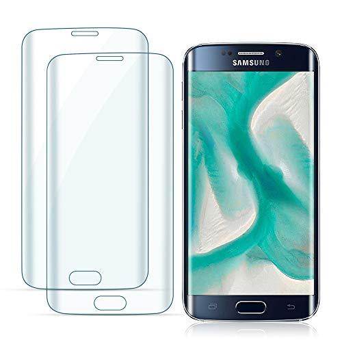 Carantee 2 Stück Panzerglas für Samsung Galaxy S7 Edge, Ultra Durable Schutzfolie, HD Klar Folie, Hoch Transparent Displayschutzfolie [0.33 mm]