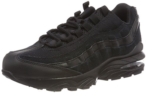 Nike Unisex Kids' Air Max 95 (gs) Low-Top Sneakers Black , 4.5 M US Big Kid