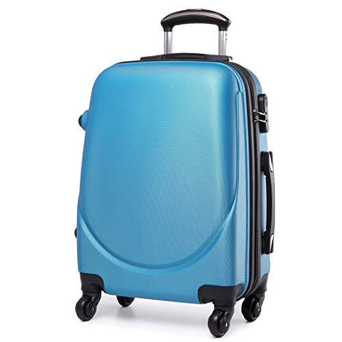 Trolley da Cabina Bagaglio a Mano Operà, Capienza 40 Litri, 55 x 34 x 24 cm, Ideale a bordo di EasyJet Ryanair Alitalia Meridiana WizzAir, Trolley in ABS e Policarbonato, (Blue Sky)