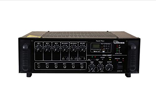 HITUNE BASS PA Amplifiers with Built-in Digital Player+Bluetooth HSSA-300BT, 250 WATTS, AC & 24V DC Operation