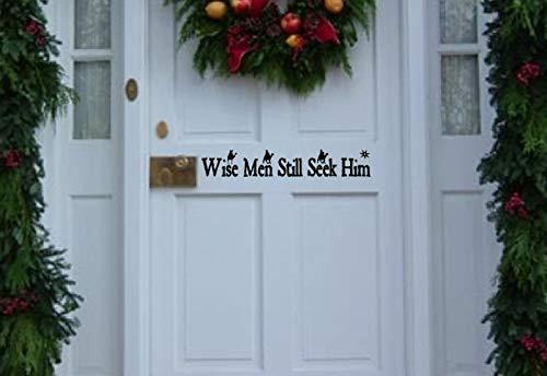 Kerst Decal, Wise Men Still Seek Him, vinyl deur, voordeur, kerstversiering, Christian Decal 12 inch in breedte