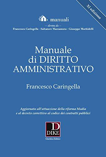 Manuale di diritto amministrativo - XI edizione