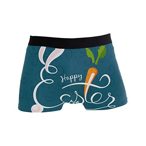 DXG1 Herren Boxershorts Happy Ostern Hase Kaninchen atmungsaktiv Unterwäsche S M L XL Gr. X-Large, Color-1