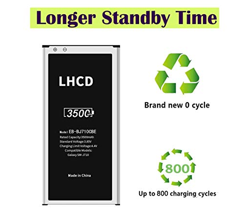 LHCD Battery for Samsung Galaxy J7(2016 Ver), Upgrade 3500mAh High Capacity Replacement Battery, Spare Battery for…