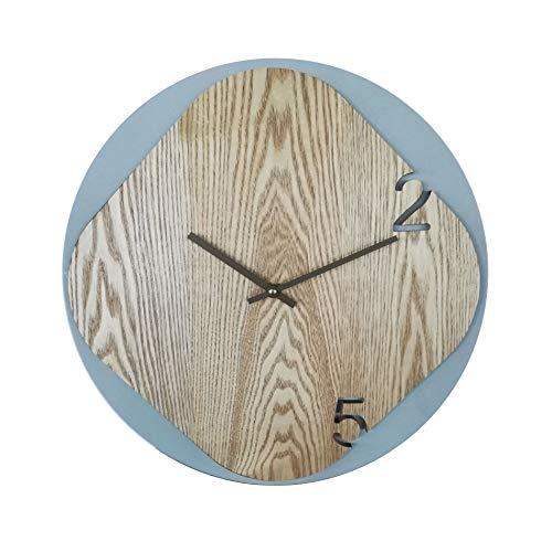 Rebecca Mobili Horloge analogique Decoration, Gris, Bois MDF, Style Moderne – Dimensions: Diametre 40 cm x L 5 cm - Art. RE6244