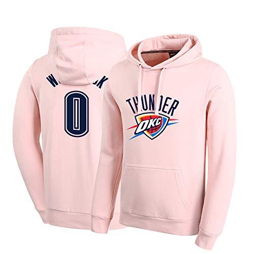 # 0 Westbrook Basketballuniform, mit bequemem Stoff Baumwolle, geeignet für Outdoor-Sportarten im Herbst und Winter (S-XXXL)-White-XXL