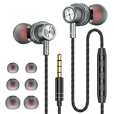 Earphones, JKSWT Wired Earbuds with Microphone and Volume Control, High Definition,Powerful Bass Sound, In-Ear Headphones Compatible with 3.5mm Headphones Devices from Jkswt