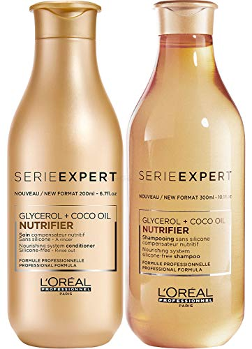 Loreal Serie Expert Nutrifier Set - Shampoo 300ml + Conditioner 200ml - Neu