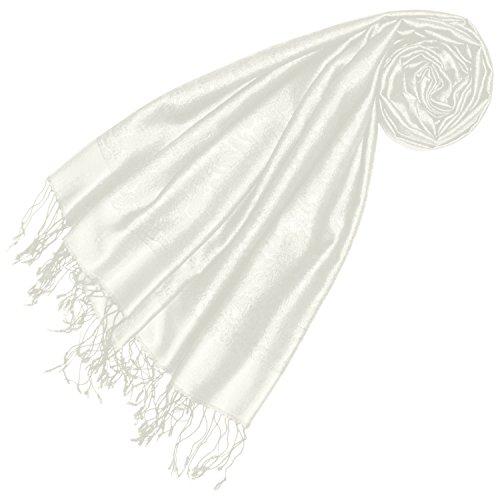 Lorenzo Cana Luxus Damen Pashmina 70% Seide 30% Viskose mit Paisley Muster Schaltuch 70 x 190 cm zweifarbig Schal Stola Damenschal Damen