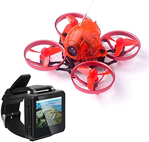 FEICHAO Snapper6 1S Brushless Whoop Racer Drohne BNF F3 Eingebautes OSD 65mm Micro FPV Racing RC Drohne Quadcopter mit FPV HD-Uhr (1 Battery with Flysky Receiver)