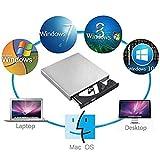 Unidad de CD Externa Blingco, Unidad de CD-RW Externa y Delgada Escritor de Escritura Combinada DVD-R Portátil para Computadora de Escritorio PC Portátil