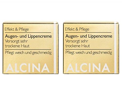 Alcina Augen und Lippencreme Doppelpack 2x15ml