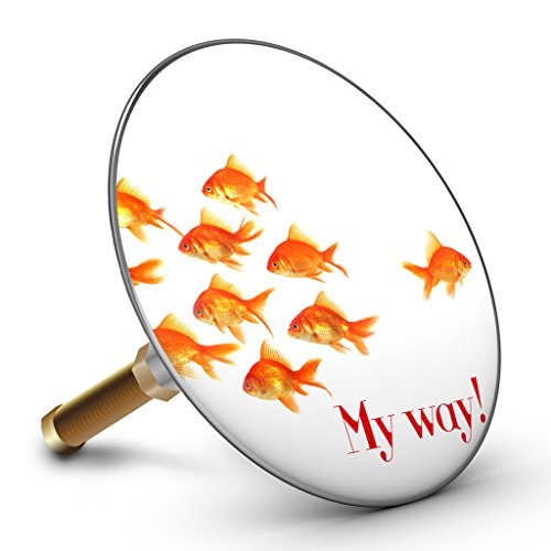 Bath Plopp Goldfish My way Badewannenstöpsel, Stöpsel für Badewanne Abfluss, Stopfen, 4530