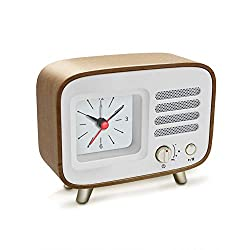 Ferrisland Bluetooth Speaker with Clock, Alarm Clock with Wireless Speaker 4.2 Portable Wireless Bluetooth Speaker Alarm Clock USB Port for Charging, TF AUX Micro SD Card Backup