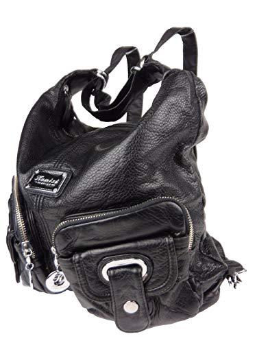 Jody 89297, 2in1 Damen Rucksackhandtasche, Handtasche und Rucksack, 37x28x15cm (schwarz)