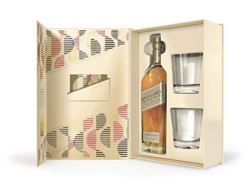 Johnnie Walker Gold Label, Geschenkpackung mit 2 GläsernBlended Whisky (1 x 0.7 l)