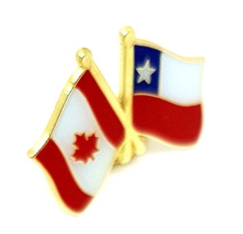 Pin de la bandera de la amistad de Canadá, doble doble cruzado, combinado, doble combinado, broche de solapa de metal esmaltado