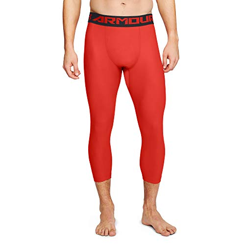 Under Armour HG 2.0 - Legging para Hombre, Hombre, Leggin, 1289574-890, Radio Rojo/Negro, L