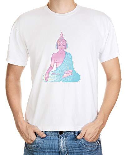Buddha DJ Spirit Soul Love Eyes Spiritual Yoga Namaste City Style Free Soul Meditating T-shirt män...
