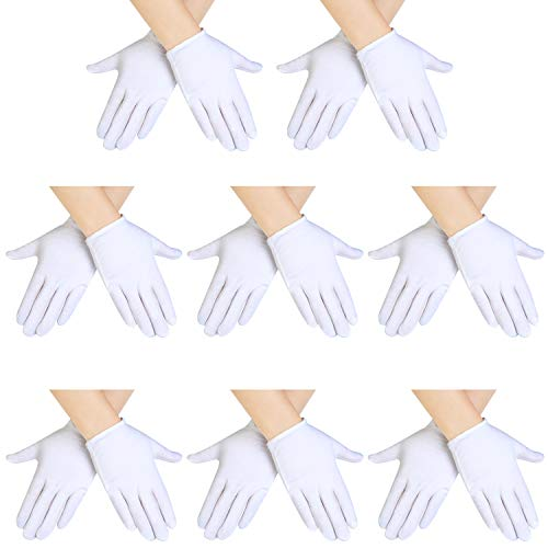 SATINIOR White Kids Costume Gloves Dress Cotton Gloves Short Formal Gloves for Boys and Girls (8 Pairs)