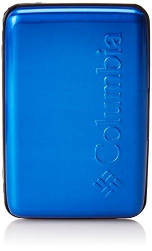 Columbia Men's Metal Hard Case RFID Credit Card Holder Wallet, Blue