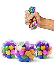 Stresslindrande bollar leksaker klämbollar för stresslindring och bättre fokuseringsleksak för barn och vuxna
