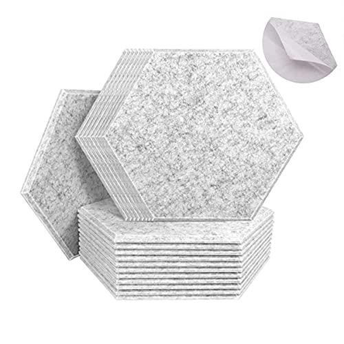 30 cm x 26 cm x 0,9 cm, 20 unidades de paneles de absorción acústica, paneles acústicos de alta densidad para el hogar y la oficina, decoración de pared y tratamiento acústico