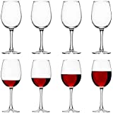 Large 16 Ounce Red Wine Glasses, Set of 8