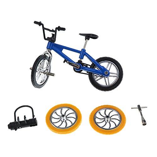 Bicicleta de juguete Magideal, coleccionable, color azul