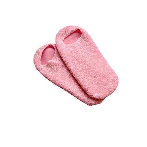 Surker 1 paire unisexe SPA Gel hydratant Rose douce et lisse Chaussettes Set (rose) PCPA00063B