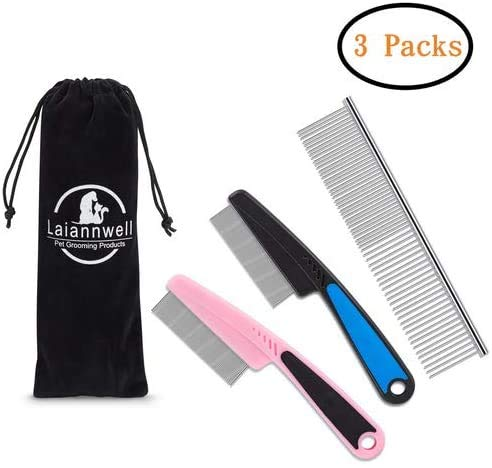 Laiannwell Professional Grooming Comb for Dog Cat Small Pets