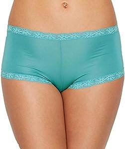 Maidenform Women's Microfiber Lace Boyshort Panty, Riviera Jade, 5