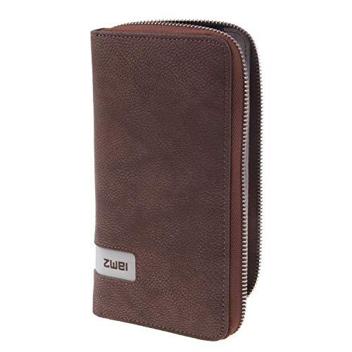 Zwei Geldbörse MW2-z Portemonnaie Damen Kunstleder, Farben Taschen:Canvas-Brown