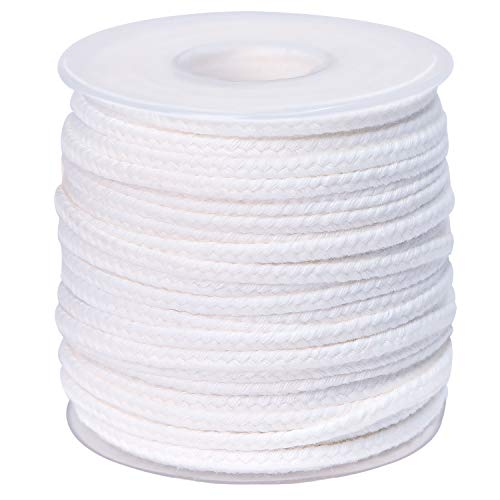 200 ft Braided Candle Wicks 100% Cotton 4 Inch 27 Ply for Candle Pillars in 2 3/8'' Inch Diameter and 200PCS Woven Candle Wick Sustainer Tabs Metal 14mm for Paraffin Wax Soy Beeswax Candle Making
