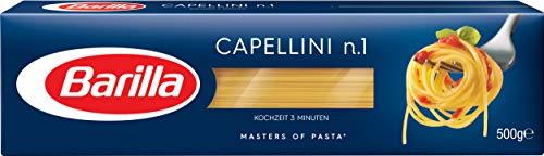 Barilla Hartweizen Pasta Capellini n. 1 – 4er Pack (4x500g)