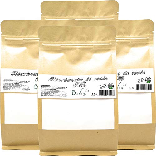 BioVeg5 - Bicarbonate de soude 4kg - ECO - Extra fin 100 µm - Sachet kraft zip refermable