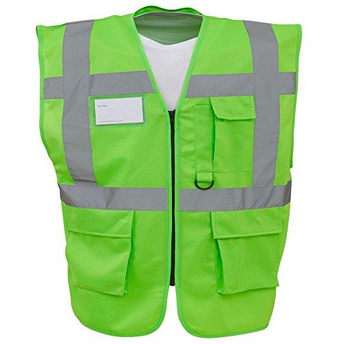 YOKO - Gilet de sécurité Haute visibilité - Unisexe (XL) (Vert Citron)