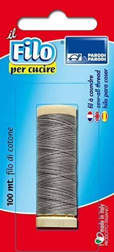 PARODI & PARODI 20gr Grigio, Rotolo in Cotone per Cucire, Filo Cucito in Bobina da 20 Grammi Colore, Articolo 100{2d739a3604398678960907ad664557a67c94593a99cbc5ba4b021070e992c84e} Made in Italy, Art. 668 Parodi&Parodi, Standard