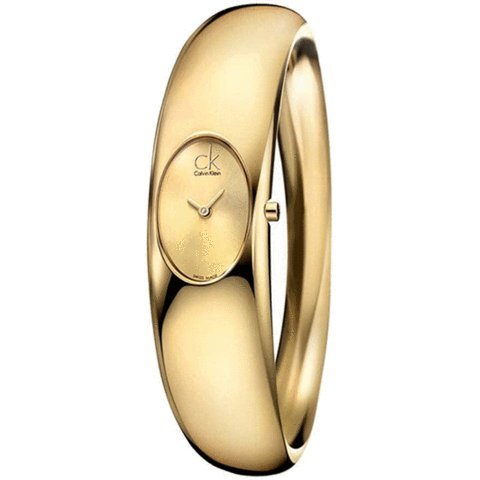 CK CALVIN KLEIN Watch Mod. Exquisite M IP Gold Bangle IP Gold DIAL, ref: CK1Y22209