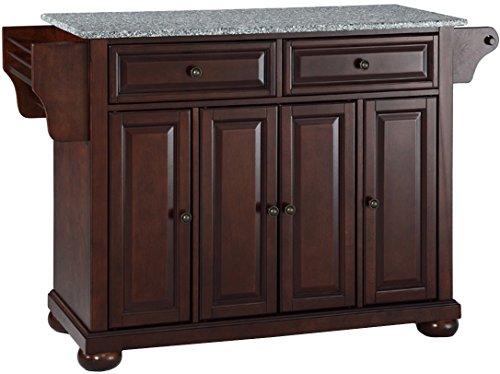 Hot Sale Crosley Furniture Alexandria Solid Granite Top Kitchen Island in Vintage Mahogany Finish