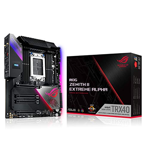 ASUS ROG Zenith II Extreme Alpha TRX40 Gaming AMD 3rd Gen Ryzen Threadripper sTRX4 EATX Motherboard with 16 Infineon Power Stages, PCIe 4.0, Wi-Fi 6 (802.11ax), USB 3.2 Gen 2x2 and Aura Sync RGB