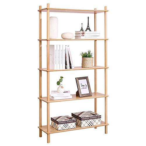 ShiSyan Librería 4 Nivel de Madera Estantes Ajustables Estanterías Organizador de Libros Rack para la Oficina de la Sala de Estar (Color: Madera, Tamaño: 71x21x151cm)