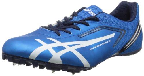 ASICS Men's Hypersprint 5 Track Shoe,Blue/White/Black,13 M US