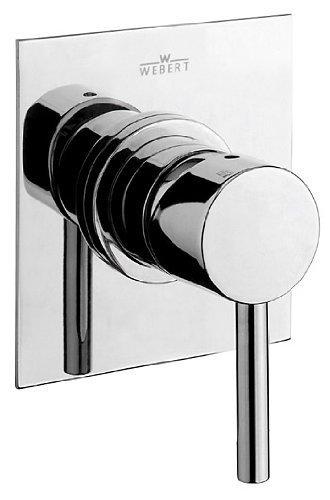 Design Unterputzarmatur Einhebelmischer chrom für Dusche, Badewanne, Spüle, Einhandmischbatterie komplett mit Unterputzeinbaukörper und keramischer Kartusche, Serie Elio