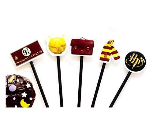 /Magique Wizarding Poudlard /école Cupcakes//m/édiators/ 10/x Coco /& Bo/ /Harry Potter Th/ème F/ête et d/écorations de g/âteau accessoires