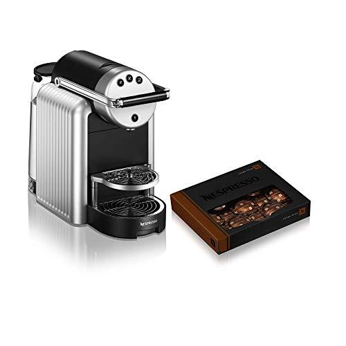 NESPRESSO - Cafetera profesional Zenius, incluye 50 cápsulas de café, cafetera eficiente ideal para pequeñas oficinas o salas de reuniones, color plateado