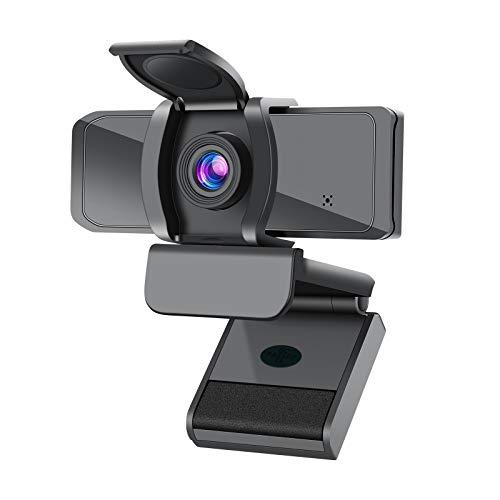 Atheta Webcam per PC Full HD 1080P Webcam con Microfono Correzione Automatica Videocamera USB 2.0 con Clip Regolabile per Video dal Vivo, Conferenze, Videochiamate, Lezioni Online e Giochi